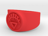 White Life GL Ring Sz 15 3d printed