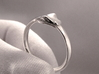 Ouroboros Ring 3d printed Polished Silver