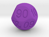 D Percent Sphere Dice 3d printed