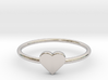 Knuckle Ring with heart, subtle and chic. 3d printed