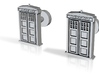 Tardis Door Cufflinks #Dr_Who 3d printed