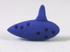 Ocarina 3d printed Blue Strong & Flexible Polished