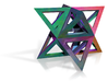 Colorful Stellated Octahedron Frame 3d printed