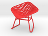 Diamond Wire Mesh Chair (1:24 Scale) 3d printed