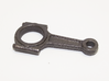 Piston Rod Keychain 3d printed polished grey steel