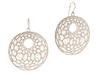 Cellular Earrings - 1 pair 3d printed white strong & flexible