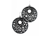 Cellular Earrings - 1 pair 3d printed black strong & flexible