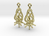 Twirldrop3 Silver Earrings 3d printed