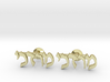 "Hebrew Name Cufflinks - ""Mordechai"" 3d printed"