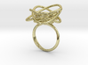 Sprouted Spiral Ring (Size 8) 3d printed