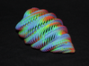 Mathematical Mollusca - Medium Rainbow Conch 3d printed