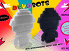 DevoBots Series 1 B/W with green Energy Dome Bob 1 3d printed