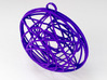 Stained Glass Ornament 3d printed Printed in Violet Purple
