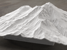 8'' Mt. Shasta Terrain Model, California, USA 3d printed Radiance rendering of model
