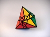 Fractured Tetrahedron Puzzle 3d printed Mid-Turn