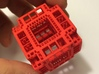 MengerKoch Fractal Cube 3d printed Red Strong and Flexible Polished