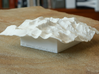 4'' Mt. Whitney Terrain Model, California, USA 3d printed Photo of actual model, seen from Southeast
