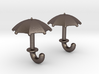 Umbrella Cufflinks 3d printed