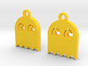 PacMan Ghost Earrings 3d printed