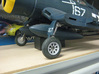 1/18th Corsair - Landing Gear Wheel Kit 3d printed
