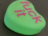 "Candy Heart ""fuck it"" - Green/Pink 3d printed Bottom"