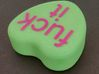 "Candy Heart ""fuck it"" - Green/Pink 3d printed Top"
