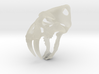 saber tooth keychain 3d printed