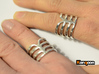 Thorsten 4 Rib - Ring - US 9 - 19 mm inside 3d printed Polished Silver printed