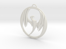 Storm Hawks Pendant in White Strong & Flexible