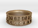 King Ring 1 in Matte Gold Steel