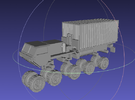 1/144 Hemtt M1120 LHS with 20ft Container in White Strong & Flexible Polished