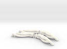 1/12 BBC Rear Exit Headers 2 pack in White Strong & Flexible Polished