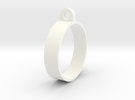 E-cig Mod Ring 23mm in White Strong & Flexible Polished