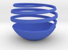 Spherical Spiral Vase 1 in Blue Strong & Flexible Polished