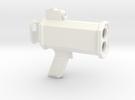 1/6 Scale Radar Gun in White Strong & Flexible Polished