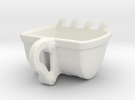 Bulldozer cup Espresso size : 60ml in White Strong & Flexible