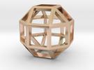 Rhombicuboctahedron Pendant in 14k Rose Gold Plated