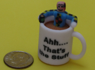 Crash Test Dummy Coffee Cup Mashup in Full Color Sandstone