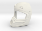 WW10003 Wild Willy Moto Helmet - Front in White Strong & Flexible Polished
