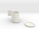 Cup And Saucer in White Strong & Flexible