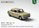 NSU Typ 110 (N 1:160) in Frosted Ultra Detail
