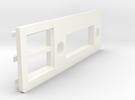 A1200 Rear Expansion port cover DVI and USB in White Strong & Flexible Polished