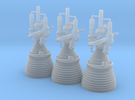 J-2 Engines (1:70 Set of 3) in Frosted Ultra Detail
