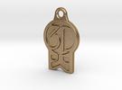 3DKitbash Logo Pendant in Polished Gold Steel