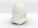 "Clone Trooper Helmet 4"" in White Strong & Flexible"