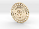 OM Particle Coin in 14K Gold
