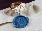 Masonic Signet Ring in Polished Silver