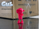 Gus Figurine - Small - Plastic in Pink Strong & Flexible Polished
