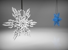 Snowflake Ornament in White Strong & Flexible Polished
