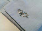 Head To Head, Bend Cufflinks in Polished Silver